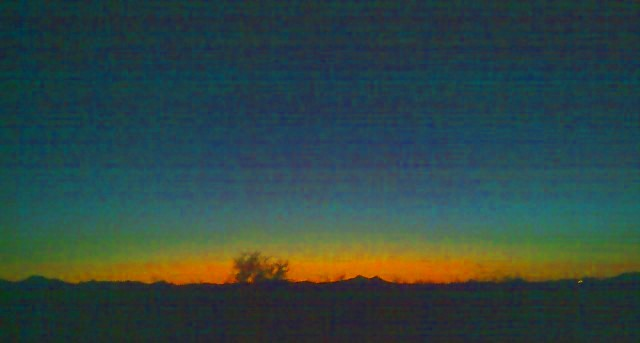 sunset on Ghost Ranch